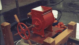 The apple grinder
